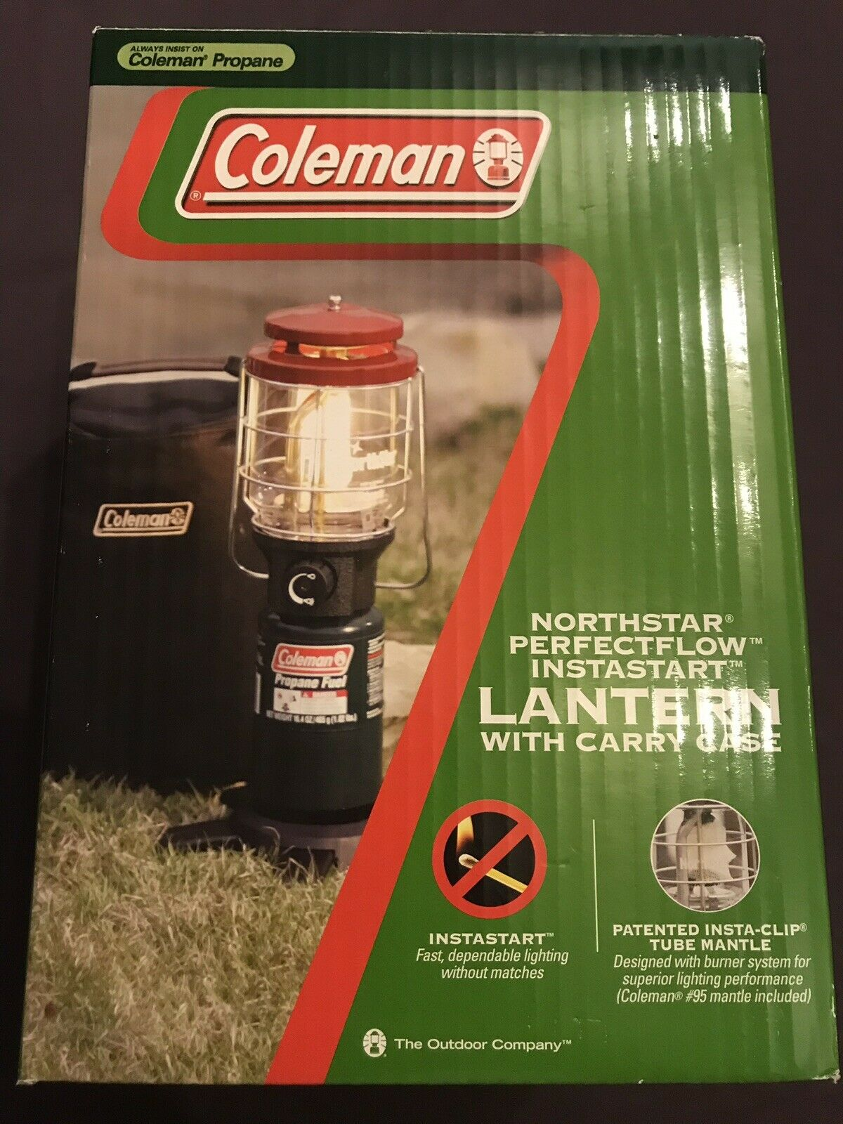 Coleman Deluxe Perfect Flow Propane Lantern With Soft Carrying Case Brand NEW