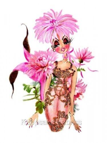 HOT PINK MERMAID fleurs Quilt bloc Multi Tailles LIVRAISON GRATUITE World Wide