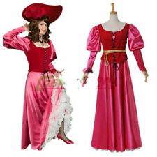 Pirates Of The Caribbean Cosplay Pirate Captain Scarlet Black Heart Costume  MM