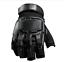 Black Fingerless Tactical Gloves Hard Knuckle XL XXL Army Airsoft Combat Glove