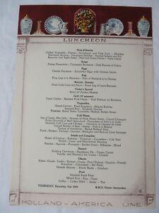 Vtg holland america line cruise lunch menu 123153 rms nieuw image is loading vtg holland america line cruise lunch menu 12 publicscrutiny Image collections