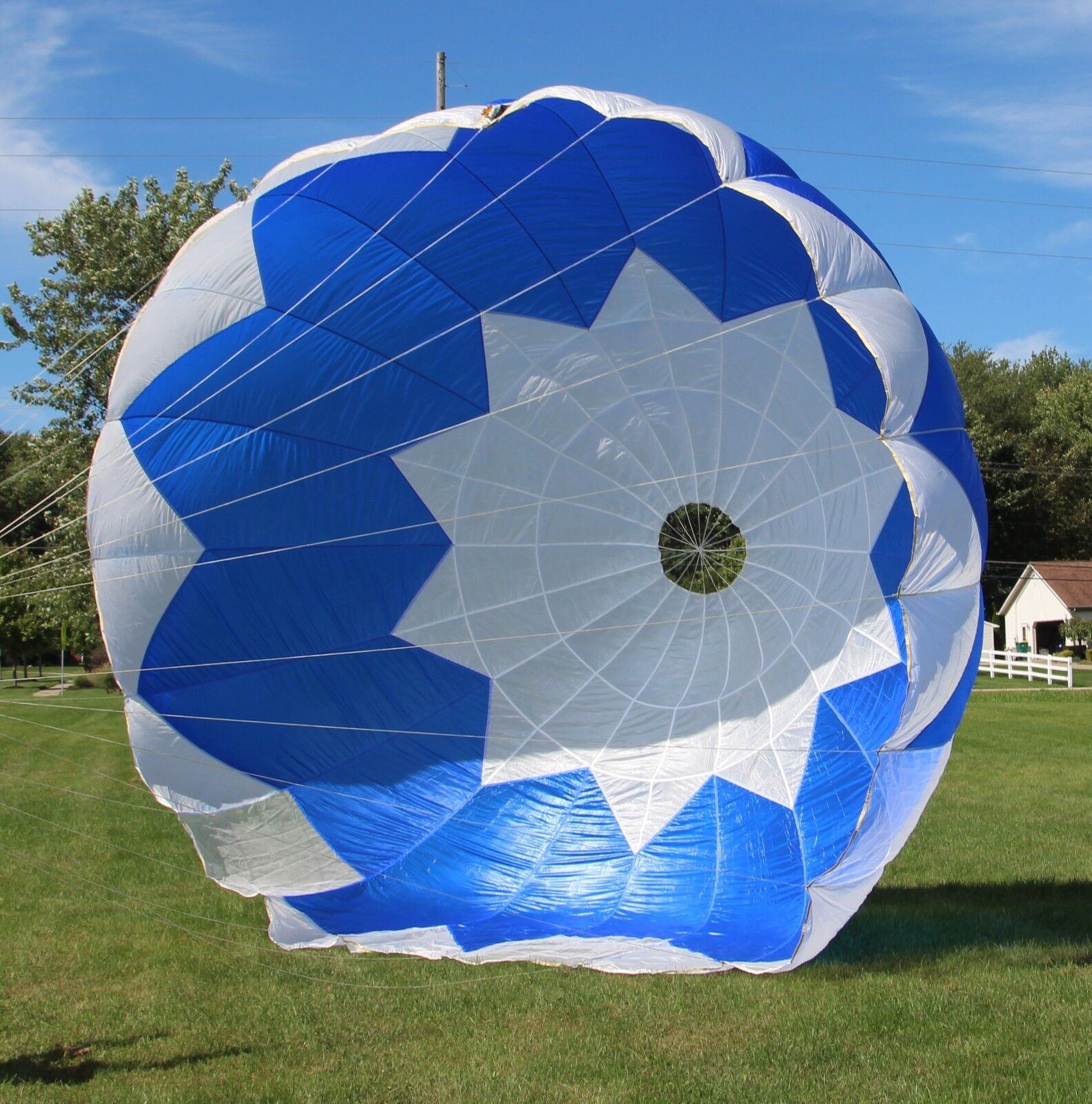 Invader 26ft Round reserve skydiving parachute canopy