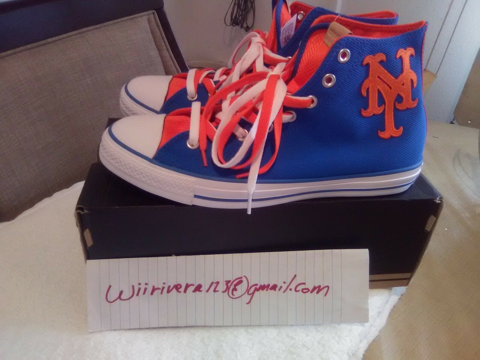 NY Mets shoes (Converse), Sizes 3 through 10 available