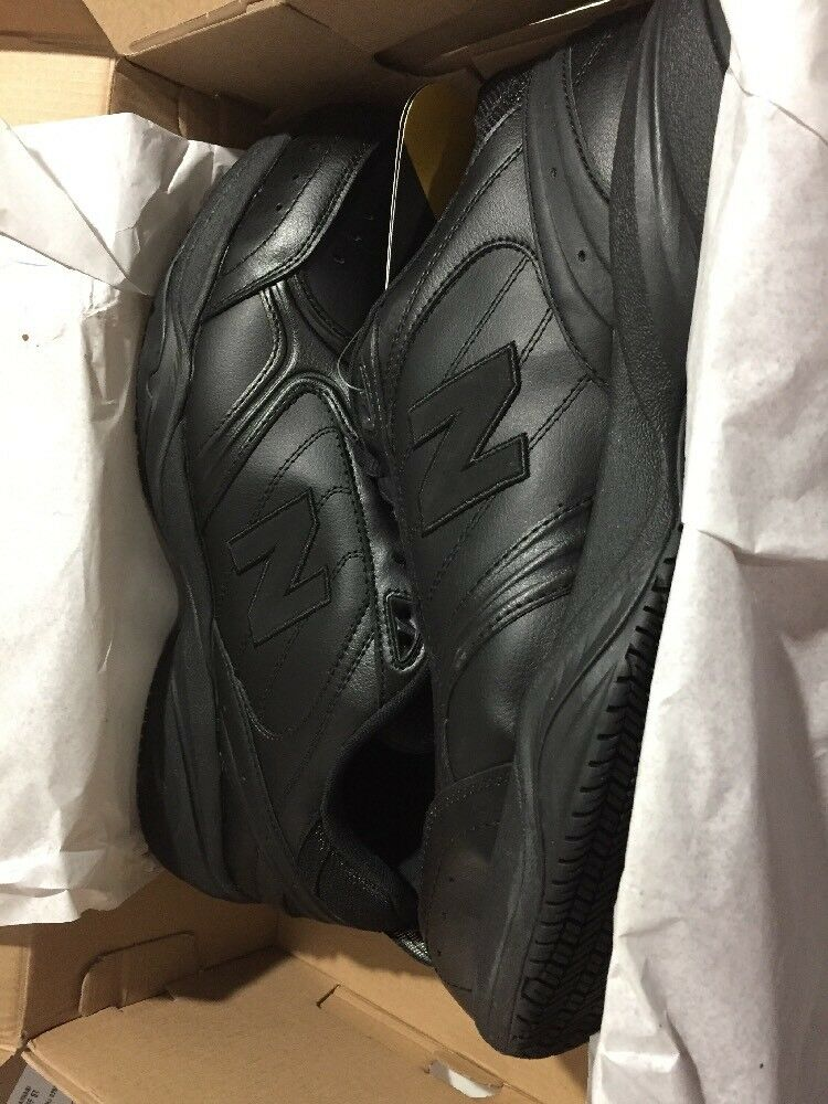 New Balance Men's Steel Shoes Toe MID 627 Leather Shoes Steel Black - Size 9.5 4E US XWIDE 511aca
