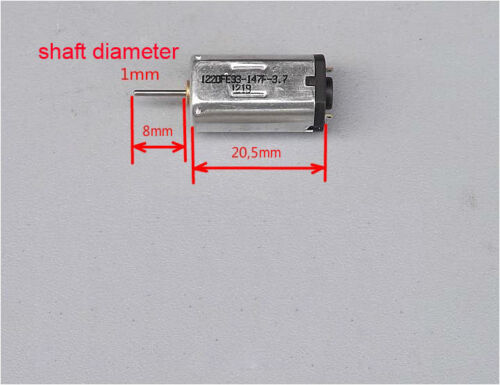 1pcs DC3.7V 25000rpm High Speed Strong Magnetic N30 Motor For HM Aircraft Model