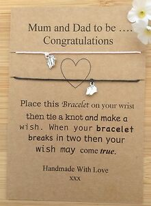 Mum-And-Dad-To-Be-Congratulations-Wish-Bracelet-Pink-amp-black