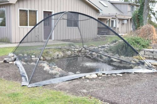 Deluxe Pond Garden Cover Tent 10 x 14 Protects Leaves Pests by EasyPro PCT1014