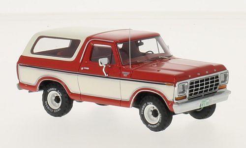Ford Bronco 1979 rouge    blanc 1 43 Model NEO SCALE MODELS  qualité de première classe