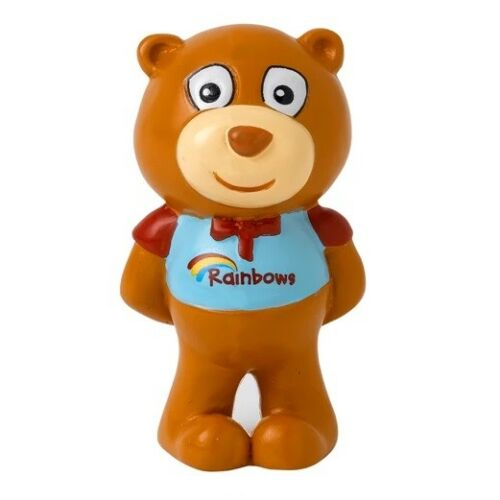 Rainbow Bear Figure NEW Rainbow Resin Olivia Bear Drummer Bear