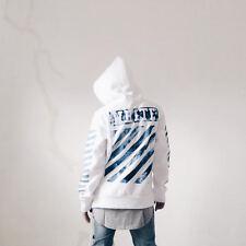 Virgil Abloh OFF-White Off White OW wavy diagonal stripes printed men plus thick