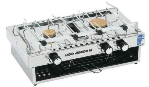 Lido Marine Stove Cooker Indoor Camping LPG 2 Burner Grill Flame Failure Gimbal
