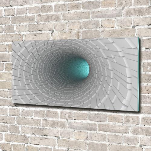 Wandbild aus Plexiglas® Druck auf Acryl 140x70 Kunst 3D-Tunnel