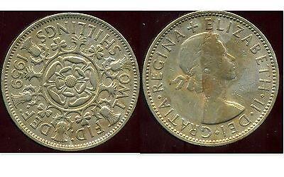 ROYAUME UNI   two  shilling 1959 GREAT BRITAIN etat