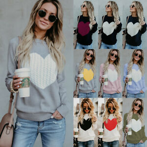 UK-Womens-Long-Sleeve-Sweater-Winter-Ladies-Knitted-Heart-Jumper-Pullover-Tops