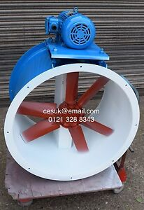 Spray booth fan 3kw industrial extractor axial fan 3 phase for Paint booth fan motor