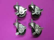 4 Ea Brake Casters 3 Dia X 125 W Threaded Stem 12mm 175 Time Shaver H10t