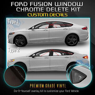 Chrome Black Fit 13-20 Lexus GS Series Window Trim Chrome Delete Blackout Kit