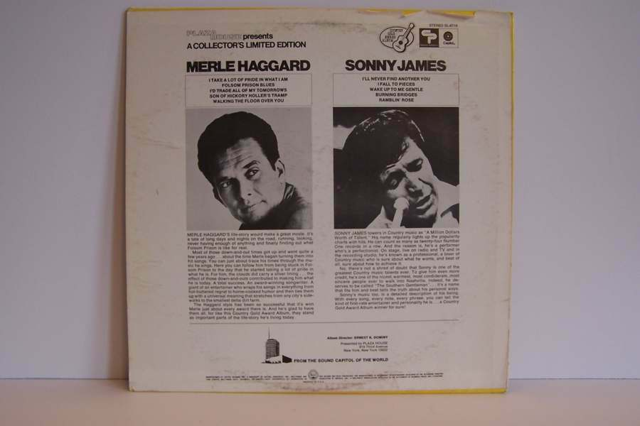 Merle Haggard / Sonny James - Music Hall Vinyl LP Recor