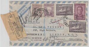 28927) Argentinien BUENOS AIRES 1958 Einschreiben Expreß Brief nach England