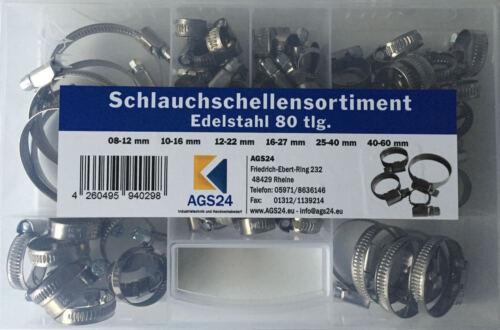 80 x Schlauchschellen Edelstahl Werkstoffklasse W2 im Sortiment TOP Preis