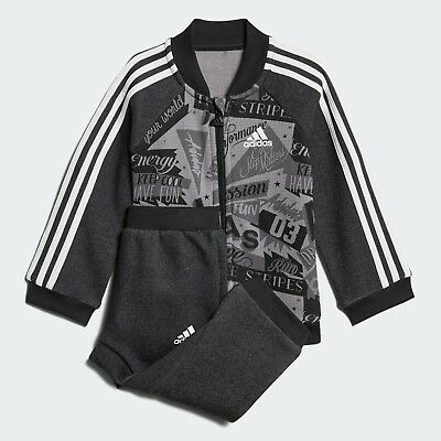 Adidas Infant Boys Basketball French Terry Tracksuit Kids Baby Children Full Set