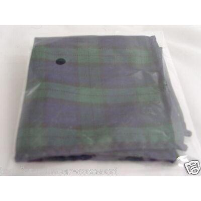 (A) TARTAN Collection-Green/Blue/Black Watch Hankie-Ties-Cravats-Cummerbund+Sets