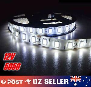 Waterproof-Flexible-12V5M-5050-300SMD-White-LED-Strip-Light-DRL-Car-Boat-Camping