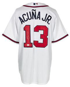 Ronald Acuna Jr. Signed Atlanta Braves White Majestic Baseball Jersey JSA ITP