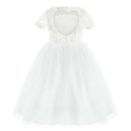 Girls Communion Party Flower Dress Princess Pageant Bridesmaid Wedding Prom Gown