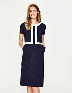 New Boden bestselling Joan Ponte Dress in Navy / Ivory woman size 10R UK/ 6R US