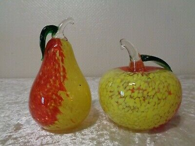 Offizielle Website Design Glas Obst 2 Tlg. - Apfel + Birne - Handarbeit