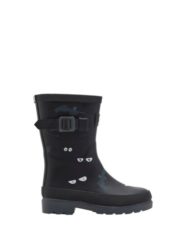 BNWT Joules Boys Dark Grey Eyes and Bats Wellys Rain Boots Wellies Rainboots Fun