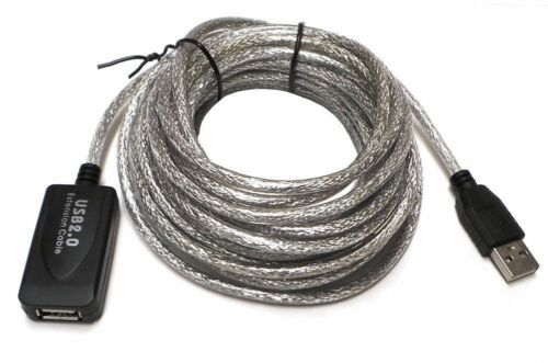 USB 2.0 Type A Male to A Female Extension Extender Cable Cord Black White New