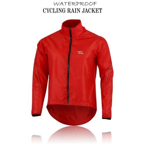 CYCLING JACKET HI VIZ HIGHLY VISIBLE WINDPROOF WATERPROOF BREATHABLE WALKING RUN