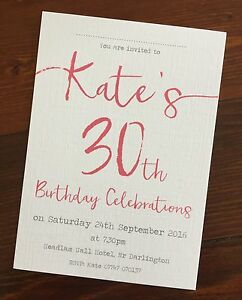 Details About Handmade 21st 30th 40th 50th 60th 70th Birthday Party Invitations Personalised