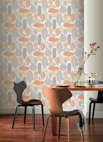 Arthouse Malmo papiers peints en ocre turquoise et orange