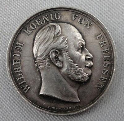 Centenar Medaille Preußen Kaiser Wilhelm 3,0cm breit 1//4 Meter Ordensband
