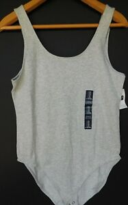 NWT-Gap-Women-039-s-Fitted-Stretch-Heather-Grey-Tank-Top-Bodysuit-L-XL-2XL-NEW