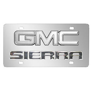 Image Is Loading Gmc Sierra Double Logo Chrome Stainless Steel