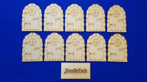 Multi Listing Unpainted MDF Laser Cut Faerie Fairy Hobbit Elf Doors Craft Art