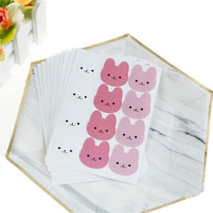 120Pcs-DIY-Seal-Sticker-Tricolor-Bunny-Rabbit-Label-Stickers-For-Gift-PackaQ6Q