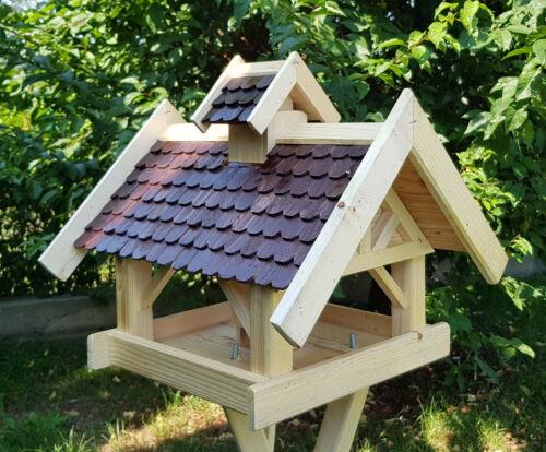 Oiseau Maisons Nature au choix avec Pied et Solaire Type 40 Grand nichoir