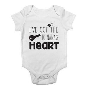 I've Got the Keys to Nana's Heart Cute Baby Vest Bodysuit