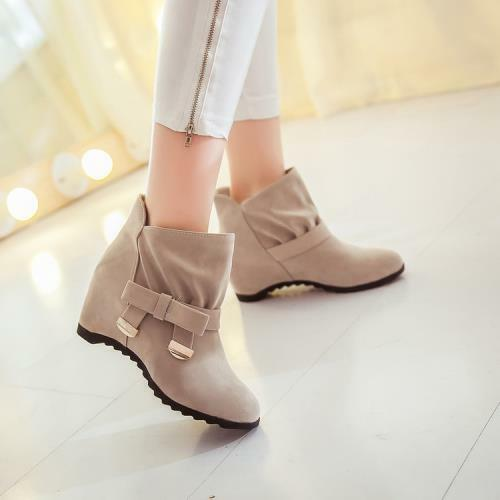 Details about  /4 Colors Women Lady Comfort Ankle Boots Ladies Wedge Heel Pull On Shoes 34//43 D