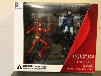 DC Injustice Gods Among Us Flash vs. Raven 2 Pack Figures