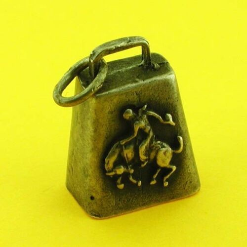 Antique 800 Silver Ringing Bell Charm Bracelet Charm