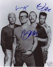 U2 ENTIRE GROUP AUTOGRAPH SIGNED PP PHOTO POSTER