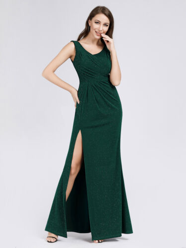 US Ever-Pretty Women Long Evening Party Dress Split Cocktail Clubwear Prom Gowns