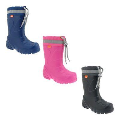 DEMAR EVA Gummistiefel Kinder Winterstiefel Regenstiefel warm gefütterte Stiefel