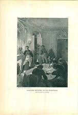 1897 Napoleon Bonaparte Dictating To His Secretaries Fireplace Candles PRINT